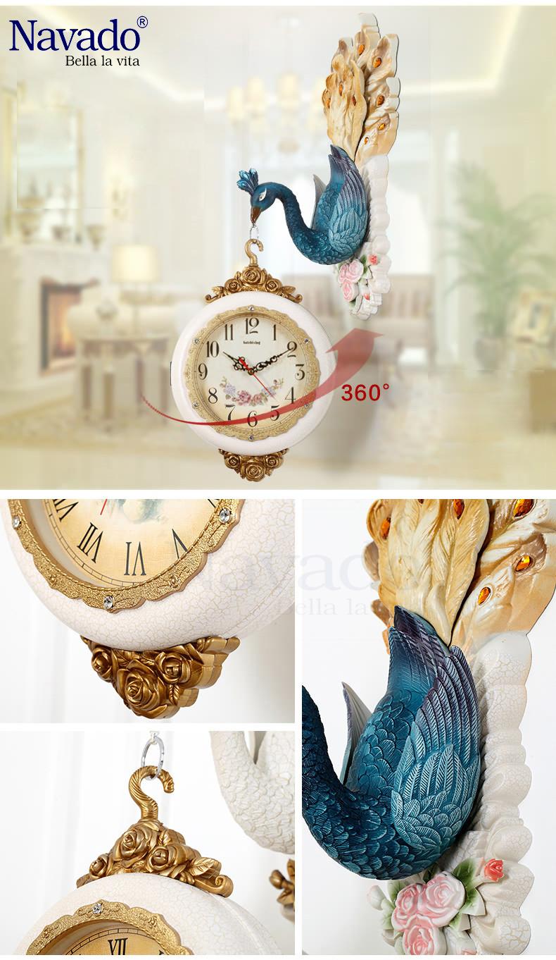Đồng hồ trang trí Peafowl