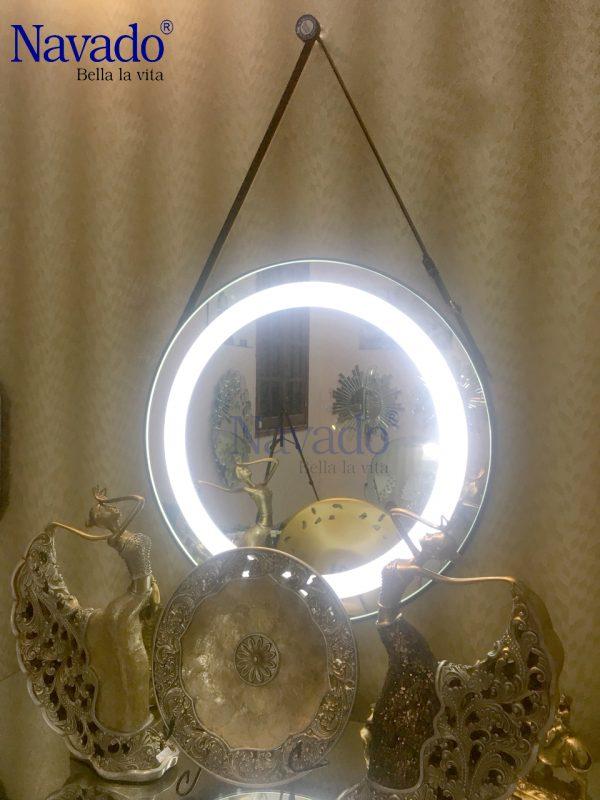 gương dây da đèn led trang trí 50cm